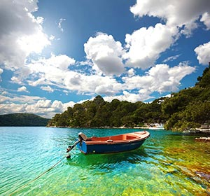 Farbenfrohe Nationalpark Mljet in Kroatien