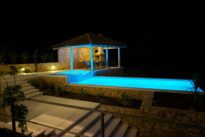 Private Luxus Villa Sunce Mit Pool In Kvarner Bucht Glastrennwand Innengarten Luxus Haus