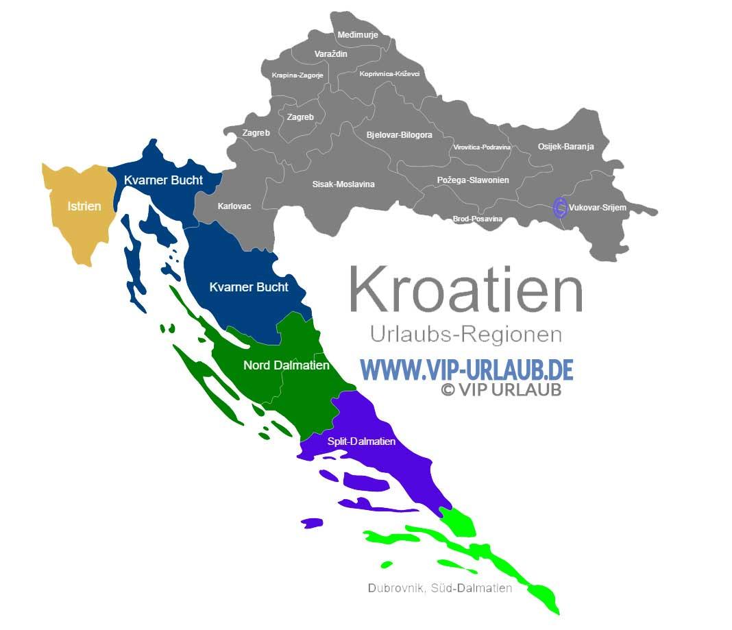 kroatien karte regionen 10+ bezaubernde Sehenswürdigkeiten in Kroatien mit Reisetipps  kroatien karte regionen